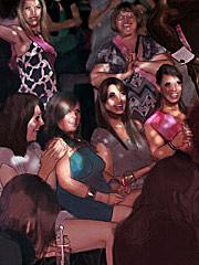 Kate Perry cum slut and Kate Bachlorette by KJ at megainterracialcomics.com