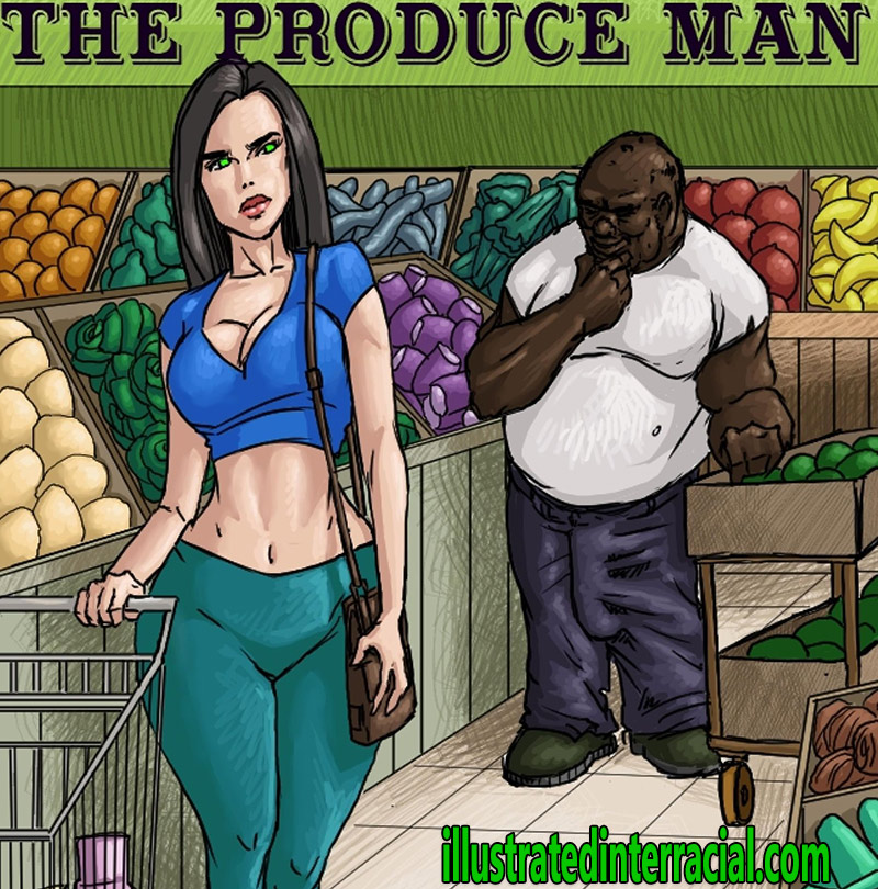 The produce man by Illustrated interracial