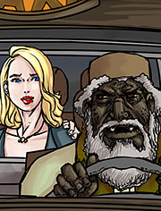 Pakistani taxi man takes my drunk wife by Illustrated interracial